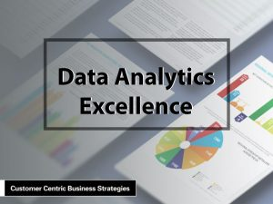 Data Analytics: Case Studies of Success